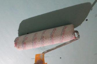 Нанесение грунтовки на гипсокартон